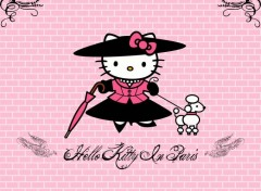 Fonds d'�cran Dessins Anim�s Hello Kitty in Paris