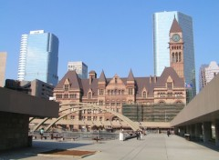 Fonds d'�cran Voyages : Am�rique du nord Old City Hall viewed from Nathan Phillips Square
