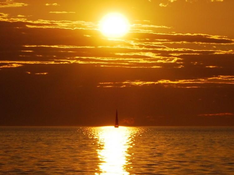 Fonds d'�cran Nature Couchers et levers de Soleil Coucher sur mer