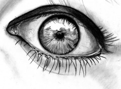 Fonds d'�cran Art - Crayon an eye