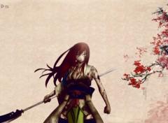 Fonds d'�cran Manga la lame des fleurs