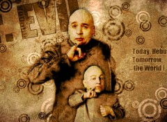 Fonds d'�cran Cin�ma Dr. Evil & Mini Me.