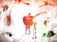 Fonds d'�cran Informatique apple_grunge