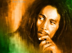 Fonds d'cran Musique Bob marley paint