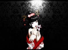 Wallpapers Digital Art Dark Geisha