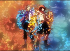Fonds d'cran Manga One Piece Burn