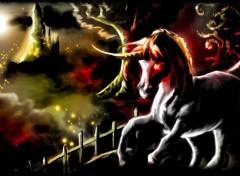 Fonds d'�cran Art - Peinture Cheval noir