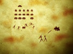Fonds d'�cran Jeux Vid�o Fresque Space Invaders