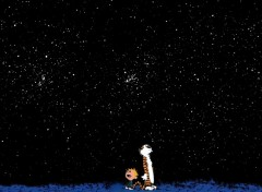 Wallpapers Comics Calvin and Hobbes looking stars