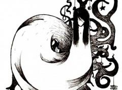 Fonds d'�cran Art - Crayon Fondu au noir