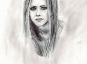 Fonds d'�cran Art - Crayon Avril Lavigne