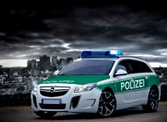 Wallpapers Cars insignia opc polizei