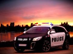 Wallpapers Cars insignia opc police NY