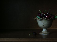Fonds d'cran Nature Nature morte  au cerises