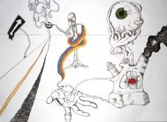 Fonds d'�cran Art - Crayon Chemin de vie
