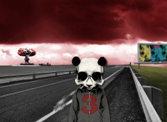 Fonds d'�cran Art - Num�rique smoking panda