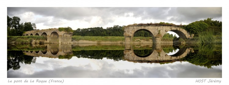 Wallpapers Trips : Europ France > Normandie Le pont de La Roque (reflet rajout�)