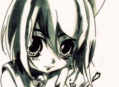 Fonds d'�cran Art - Crayon Kawaii Neko Girl