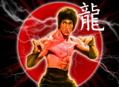 Fonds d'�cran C�l�brit�s Homme Bruce Lee - Dragon