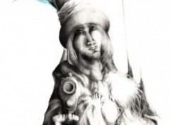 Fonds d'�cran Art - Crayon L'Oiseau Bleu