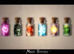 Fonds d'�cran Art - Num�rique Magic Bottles