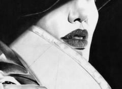 Fonds d'�cran Art - Crayon Ang�lina Jolie