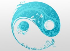 Fonds d'�cran Art - Num�rique Yin Yang Smile