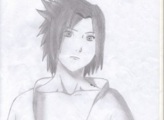 Fonds d'cran Art - Crayon sasuke