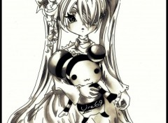 Fonds d'�cran Art - Crayon Lolita Doll
