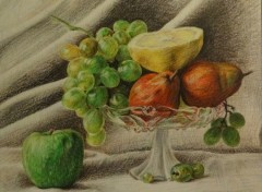 Fonds d'cran Art - Crayon Derniers fruits