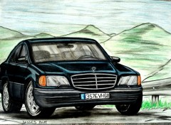 Fonds d'cran Art - Crayon Mercedes 280