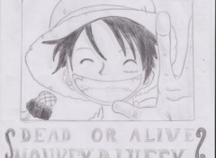 Fonds d'�cran Art - Crayon wanted luffy