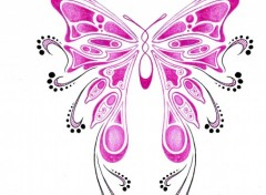 Fonds d'�cran Art - Crayon Tattoo Butterfly