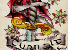Fonds d'�cran Art - Crayon Tattoo Old School
