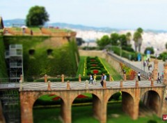 Constructions et architecture Chateau de Montjuc (Barcelone) - TILT-SHIFT