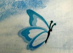 Objets papillon bleu