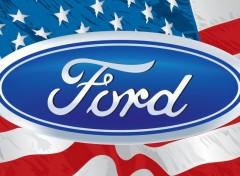 Cars Ford & American Flag