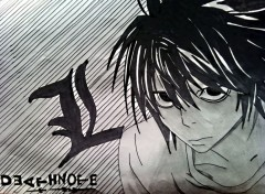 Art - Crayon L de death Note